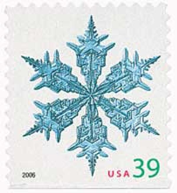 2006 39c Contemporary Christmas: Wide Arms Snowflake, conventional