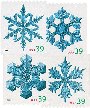 2006 39c Contemporary Christmas: Holiday Snowflakes, vending booklet