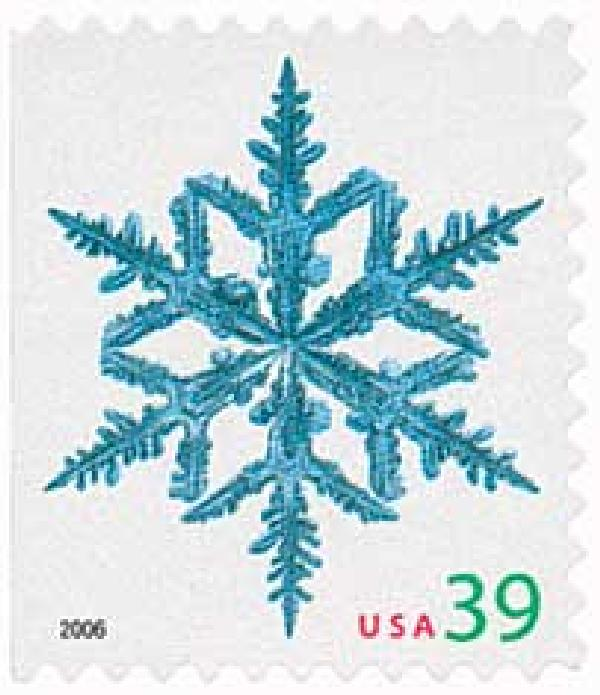 2006 39c Contemporary Christmas: Spindly Arms Snowflake, vending