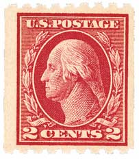 1912 2c Washington, coil, carmine, single watermark