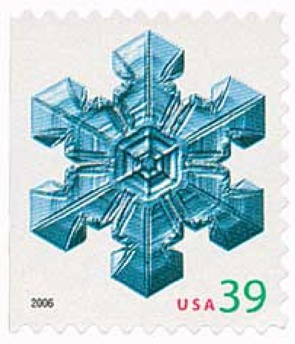 2006 39c Contemporary Christmas: Large Center Snowflake, vending