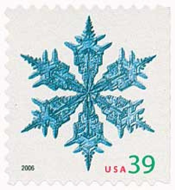 2006 39c Contemporary Christmas: Wide Arms Snowflake, vending