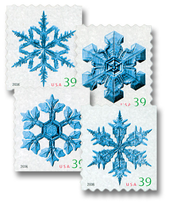 2006 39c Contemporary Christmas: Holiday Snowflakes, ATM booklet