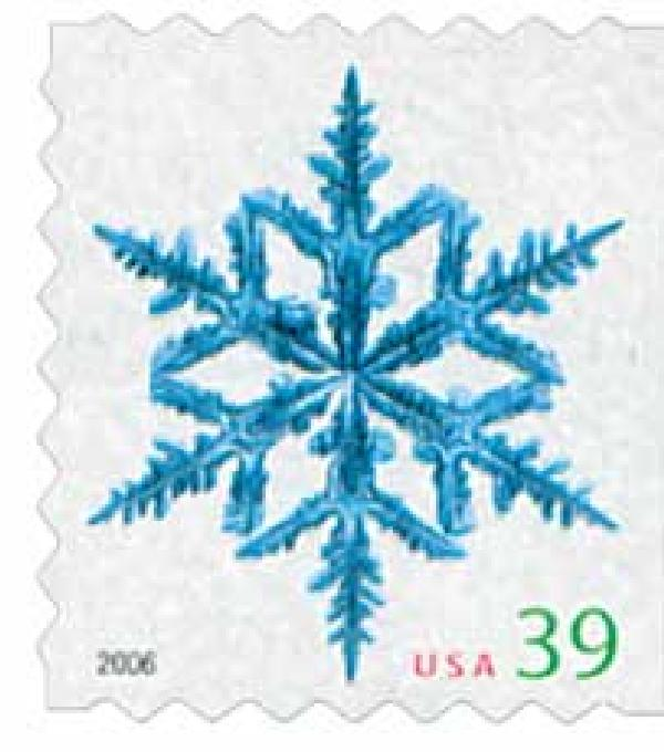 2006 39c Contemporary Christmas: Spindly Arms Snowflake, ATM