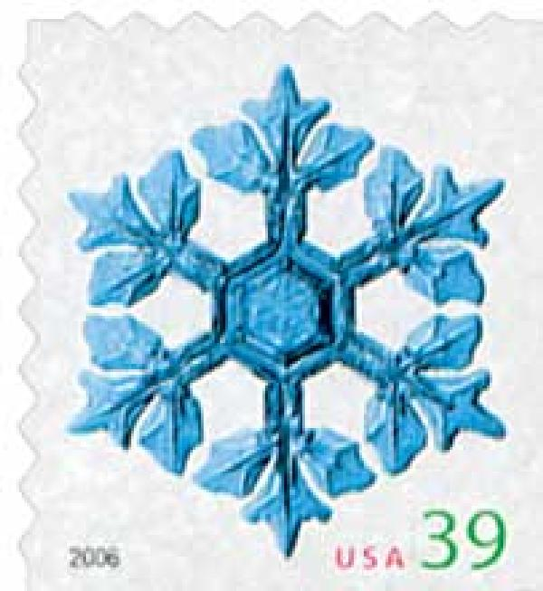 2006 39c Contemporary Christmas: Leafy Arms Snowflake, ATM