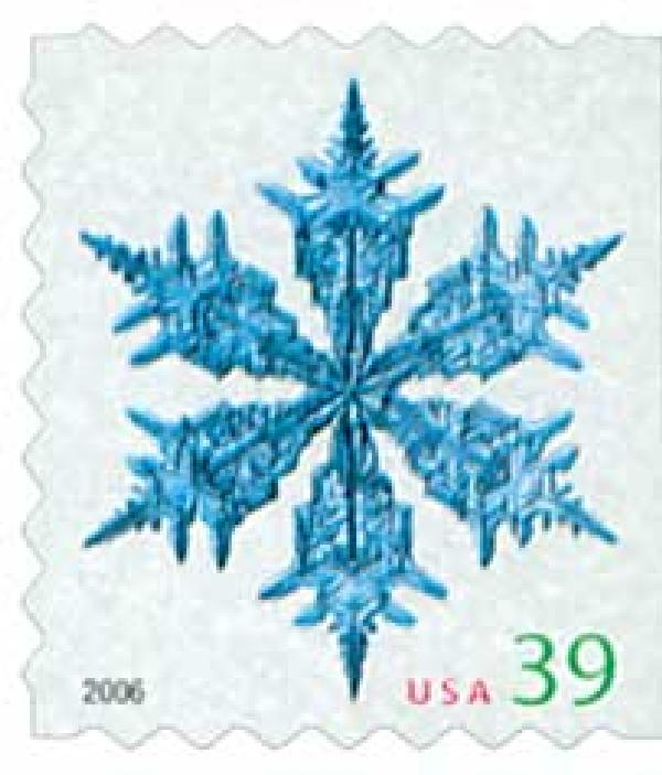 2006 39c Contemporary Christmas: Wide Arms Snowflake, ATM