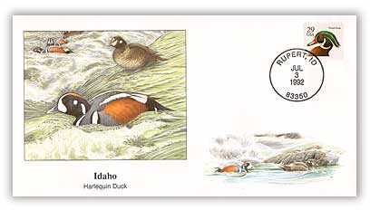 1992 Idaho Harlequin Duck Cover
