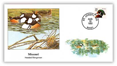 1992 Missouri Hooded Merganser Cover