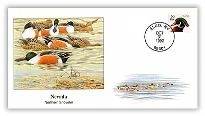 1992 Nevada Northern Shoveler Cover