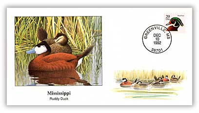 1992 Mississippi Ruddy Duck Cover