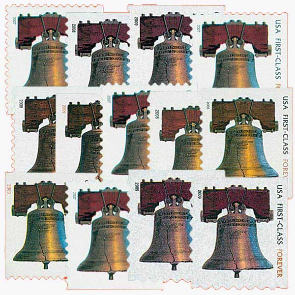 2007-10 Liberty Bell Forever, set of 13 stamps