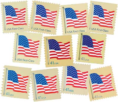 2007 41c American Flags, collection of 13 stamps