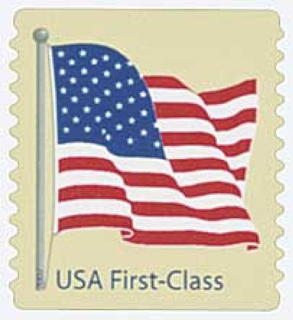 2007 41c American Flag, 11 perf, coil, round corners