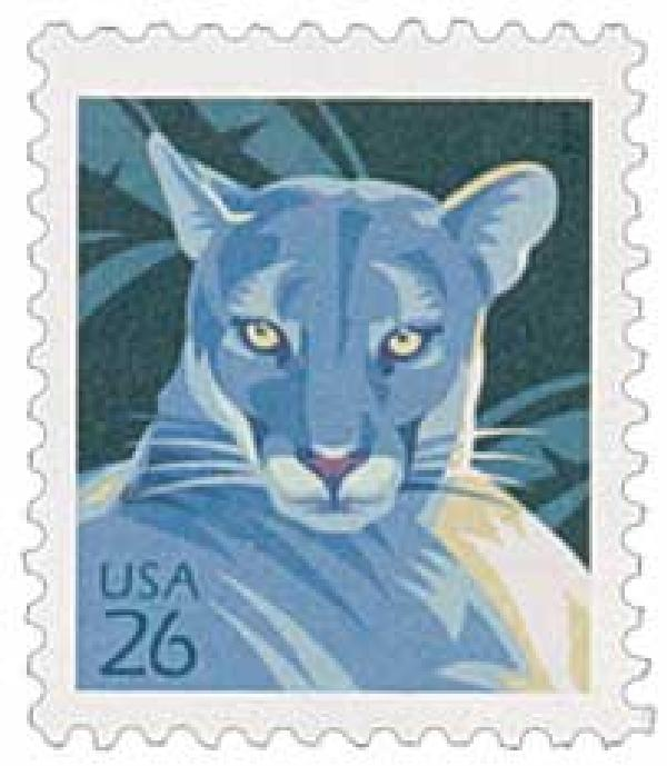 2007 26c Florida Panther, from sheet of 100