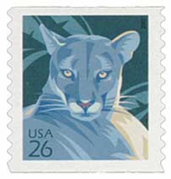 2007 26c Florida Panther, coil