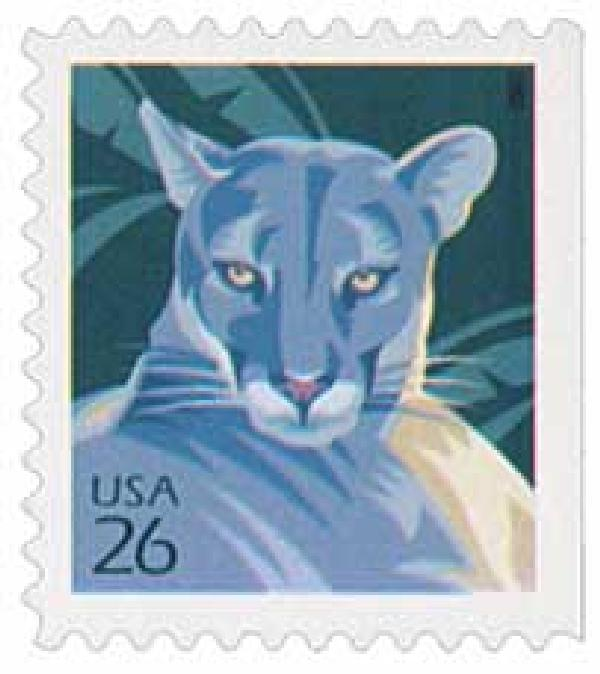 2007 26c Florida Panther, booklet single