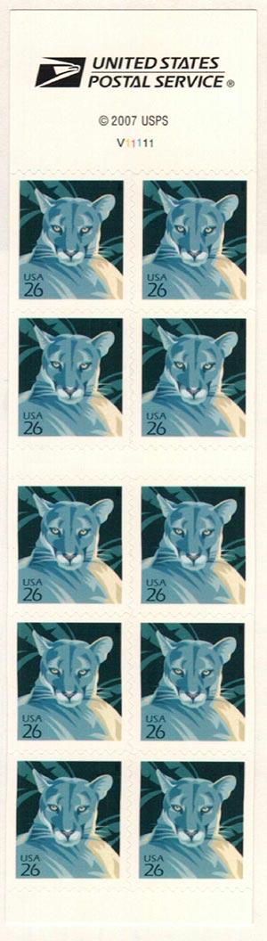 2007 26c Florida Panther, s/a bklt (AV)
