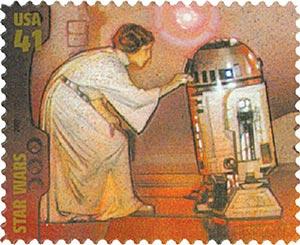 2007 41c Star Wars: Princess Leia and R2-D2