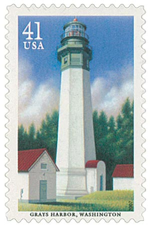 2007 41c Pacific Lighthouse: Grays Harbor, Washington