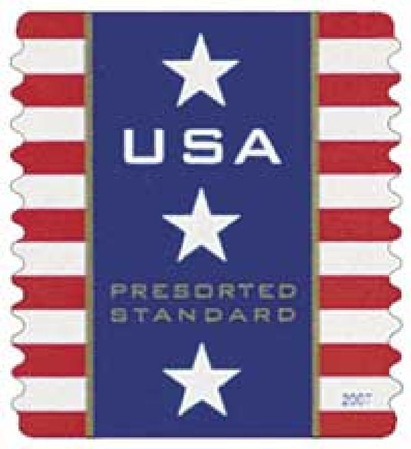 2007 10c Patriotic Banner,  Presorted (AV)