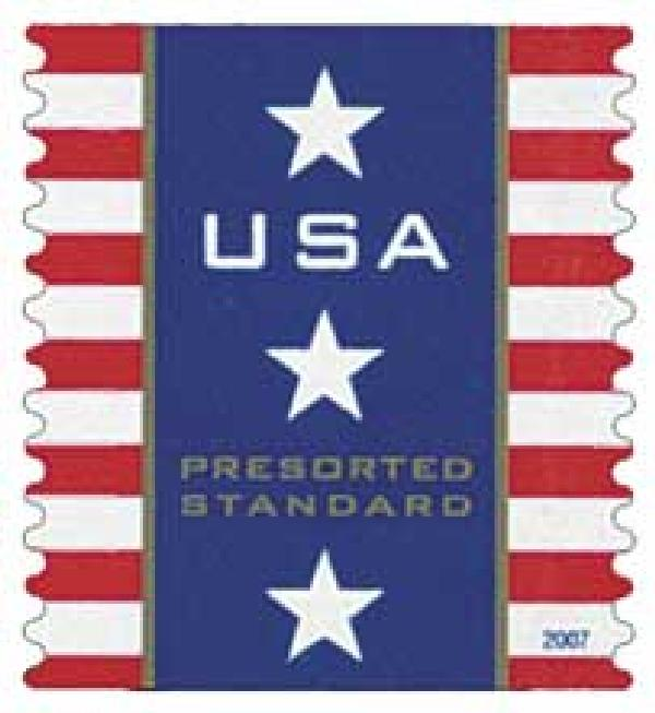 2007 10c Patriotic Banner,  Presorted (SSP)