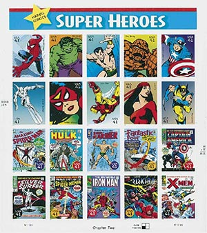 2007 41c Marvel Comic Super Heroes