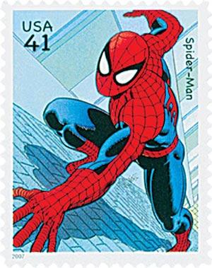 2007 41c Marvel Comics Super Heroes: Spider-Man Action