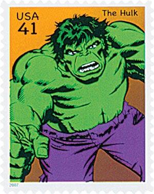 2007 41c Marvel Comic Super Heroes: The Hulk