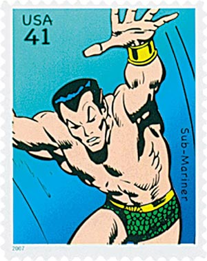 2007 41c Marvel Comic Super Heroes: The Sub-Mariner