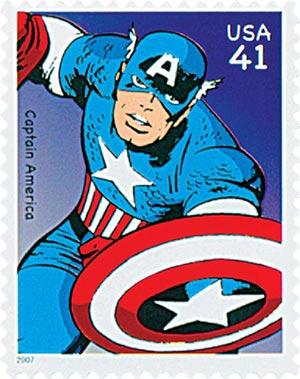 2007 41c Marvel Comics Super Heroes: Captain America Action