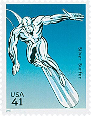 2007 41c Marvel Comics Super Heroes: Silver Surfer Action