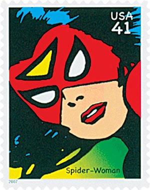 2007 41c Marvel Comics Super Heroes: Spider Woman Action