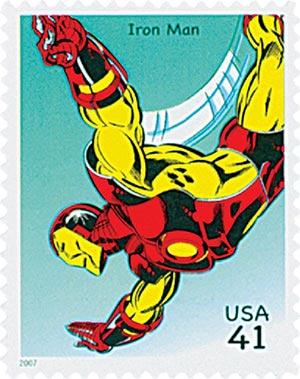 2007 41c Marvel Comics Super Heroes: Iron Man Action