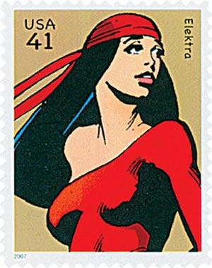 2007 41c Marvel Comics Super Heroes: Elektra Action