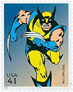 2007 41c Marvel Comics Super Heroes: Wolverine Action