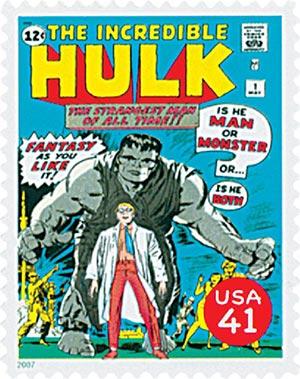 2007 41c Marvel Comics Super Heroes: Spider-Man Comic Cover