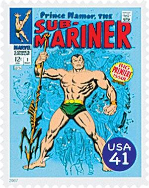 2007 41c Marvel Comics Super Heroes: Sub-Mariner Comic Cover