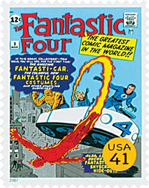 2007 41c Marvel Comics Super Heroes: Fantastic Four Comic Cover