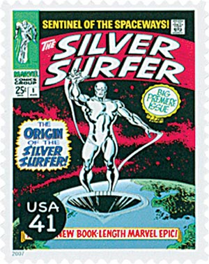 2007 41c Marvel Comic Super Heroes: The Silver Surfer