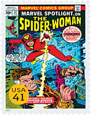 2007 41c Marvel Comic Super Heroes: Spider-Woman Comic