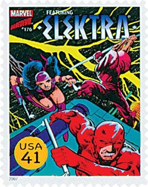 2007 41c Marvel Comics Super Heroes: Elektra Comic Cover