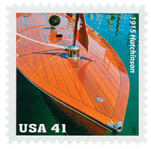 2007 41c Vintage Mahogany Speedboats: 1915 Hutchinson