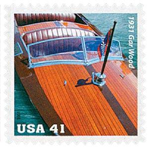 2007 41c Vintage Mahogany Speedboats: 1931 Gar Wood