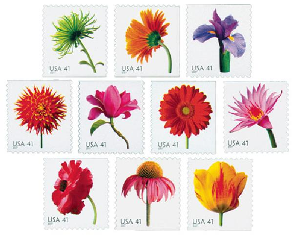 2007 41c Beautiful Blooms, booklet