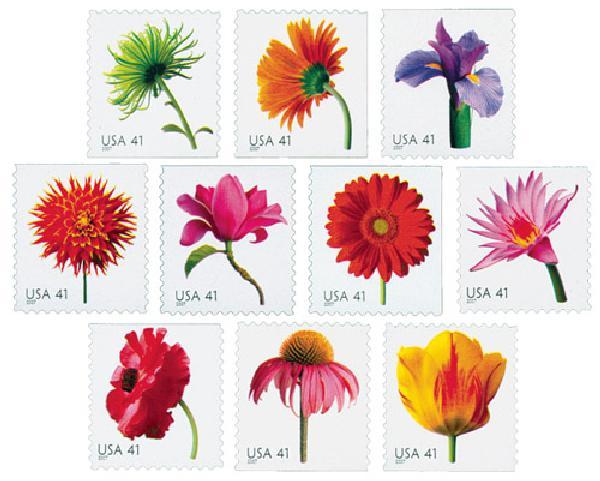 2007 41c Beautiful Blooms, booklet