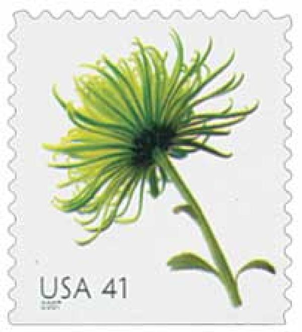 2007 41c Beautiful Blooms: Chrysanthemum, booklet single