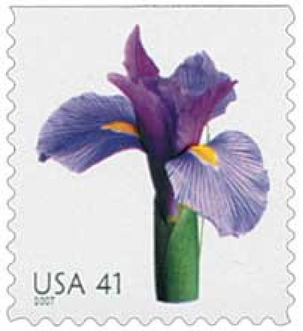 2007 41c Beautiful Blooms: Iris, booklet single