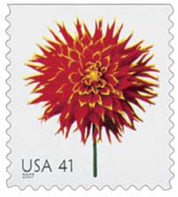 2007 41c Beautiful Blooms: Dahlia, booklet single