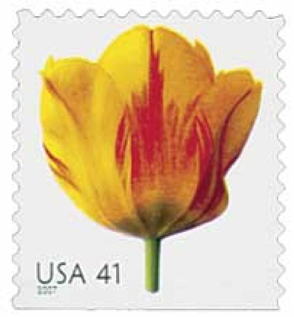 2007 41c Beautiful Blooms: Tulip, booklet single