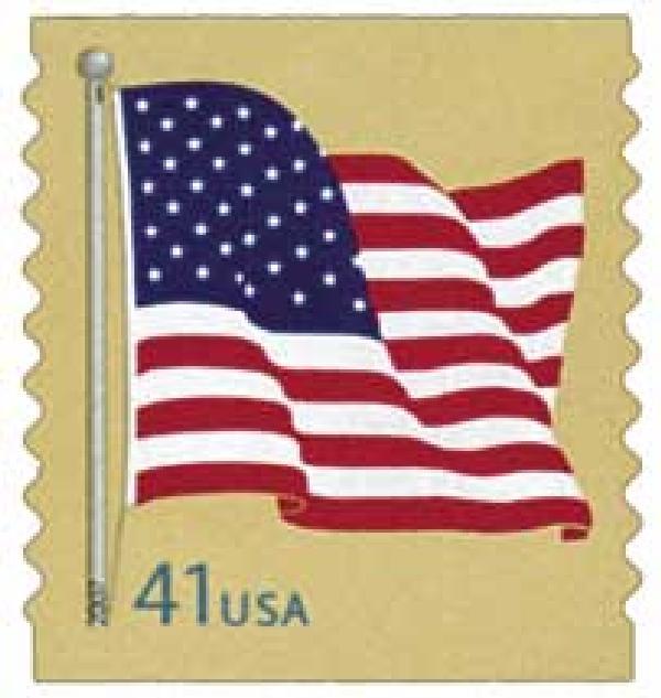 2007 41c American Flag, coil (AP)